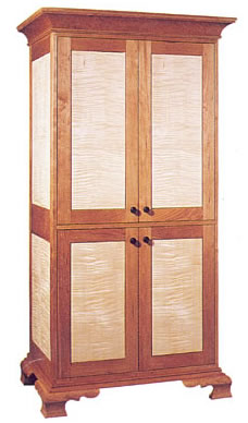 Tiger Maple & Cherry Armoire
